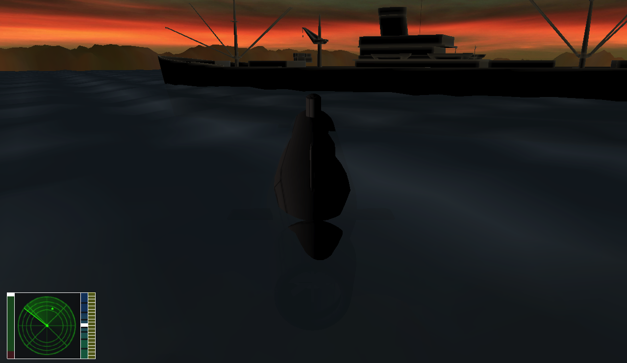 Submarine simulator screenshot